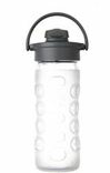 LIFEFACTORY Glass Bottle - 350ml / Flip / Transparent WEISS