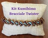 KIT Kumihimo Bracciale Twister Turchese Bronzo