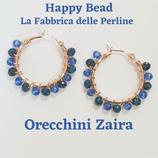Kit Wire Orecchini Zaira versione Bicolor Blu Metal e Blu China
