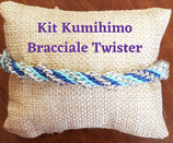 KIT Kumihimo Bracciale Twister Azzurro Blu