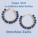 Kit Wire Orecchini Zaira versione Blu Opaco