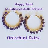 Kit Wire Orecchini Zaira versione Bicolor Viola Metal e Trasparente