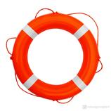 Rettungsring Orange Weiß 60 cm Majoni