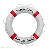 Rettungsring Weiß Rot 60 cm Majoni mit Beschriftung
