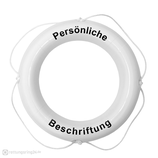 Rettungsring Weiß 60 cm Majoni mit Beschriftung