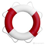 Rettungsring Rot Weiß 60 cm / 75 cm