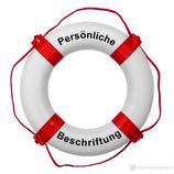 Rettungsring Weiß Rot 57 cm / 65 cm mit Beschriftung