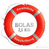 Rettungsring Orange SOLAS 75 cm 2,5 kg mit Beschriftung