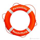 Rettungsring Orange Weiß 60 cm Majoni mit Beschriftung