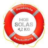 Rettungsring Orange SOLAS MOB 75 cm 4,2 kg mit Beschriftung