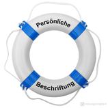 Rettungsring Weiß Blau 57 cm / 65 cm mit Beschriftung