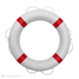 Rettungsring Weiß Rot 60 cm Majoni