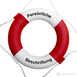 Rettungsring Rot Weiß 60 cm / 75 cm mit Beschriftung