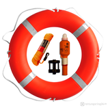 Rettungsring mit Leine & Licht 75 cm 2,5 kg Orange SOLAS