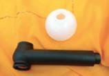 Ölduschgriff mit Dosier-Kugel für Ölbefüllung