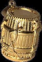 Pendentif Guadeloupe Tambour Ka avec chaine 45 ccm