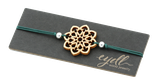 Armband mit Holzornament -  Mandala /  Yggdrasil / Blume des Lebens