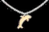 Holz Delphin Anhänger mit Kette