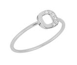 Momentoss Ring 14K wéißgold mit 0.03CT Brillant, Größe 54