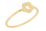 Momentoss Ring 14K gelbgold mit 0.03CT Brillant, Größe 54