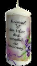 Trauerkerze - Premium Kerze mit Spruch Nr. 12