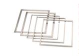 QUADRO GANACHE INOX  , 33,7 x 33,7 cm , sp 12 mm ,  confezione 1 pz .