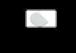 RASCHIA TONDA IN PLASTICA , MAX 60 °C ,  15 x 11 cm , confezione 1 pz .