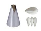 BOCCHETTE SAINT HONORè INOX  , Ø 1,3 x H 5,3 cm ,  confezione 1 pz .