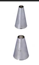 BOCCHETTE FORO TONDO INOX  , Ø 2 x 5 cm , confezione 1 pz .