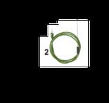 SONDA CABLATA CON TERMO PROTEZIONE - 40 / + 110 °C , 120 mm , confezione 1 pz .