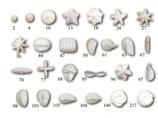 SET 26 BOCCHETTE PER DECORAZIONE INOX , 19,2 x 14 x H 4,8 cm  ,  confezione 26 pz .