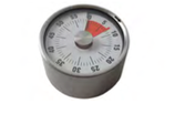 TIMER MECCANICO CON MAGNETE 60 minuti  , Ø 6 cm , sp 3,8 mm , confezione 1 pz .