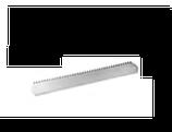 PETTINE DENTELLATO INOX , 42 x 8 cm , confezione 1 pz .
