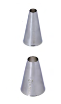 BOCCHETTE FORO TONDO INOX  , Ø 2,4 x 4,5 cm , confezione 1 pz .