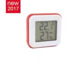MINI TERMOMETRO IGROMETRO ELETTRONICO - 30 / + 60 °C  , 18,5 x 8 cm ,  confezione 1 pz .