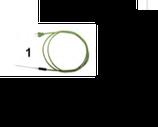 SONDA CABLATA CON TERMO PROTEZIONE - 40 / + 110 °C , 60 mm , confezione 1 pz .