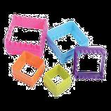 Cortador de cuadros de colores