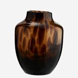 Kl. Vase Glas Braun Gesprenkelt Madam Stoltz 12,5cm