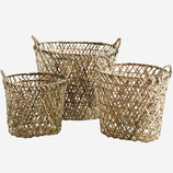 Ovaler Bambus Korb Mit Henkeln Gr. 1. 35x26x30