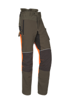 Samourai Schnittschutzhose grün