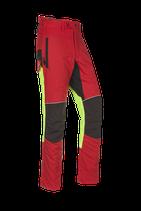 Samourai Schnittschutzhose rot