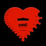 Addi Nadelmaß Herz, für Strick- und Häkelnadeln,
