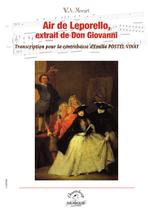 Mozart : Air de Leporello, extrait de Don Giovanni,Transcription pour contrebasse et piano d'Emilie Postel-Vinay