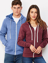 Bella + Canvas | 3909 |  Unisex Triblend Kapuzen Sweatjacke