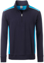 James & Nicholson  | JN 868 | Workwear Halfzip Sweater Unisex