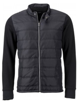 James & Nicholson | Herren Hybrid Sweat Jacket | JN 1124