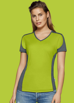Hakro | № 190 | Women-V-Shirt-Contrast Performance