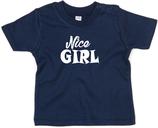 "Babywelt   Babybugz   71.0002    BZ02 Baby T-Shirt kurzarm    Druck ""Nice Girl"""