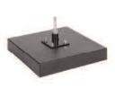 Flaggen Zubehör | Kunststoffbeschichtete Betonbasis + Metall Rotator | CB-03