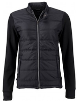James & Nicholson | Damen Hybrid Sweat Jacket | JN 1123